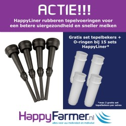 Special Offer : HappyLiner FL-0021 Rubber Milking Liner suitable for Lely