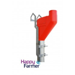 Pipe Feeder short, red with Mounting bracket Lely A4 / A5