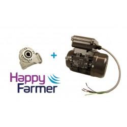 Worm Gear Reducer + Motor Cow Brush Luna