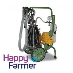 Portable milking machine oil lubricated COW