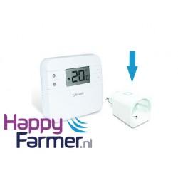 Plug thermostaat infrarood verwarming melkstal